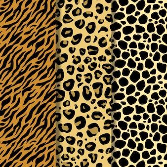 현대 야생 동물 모피 패턴