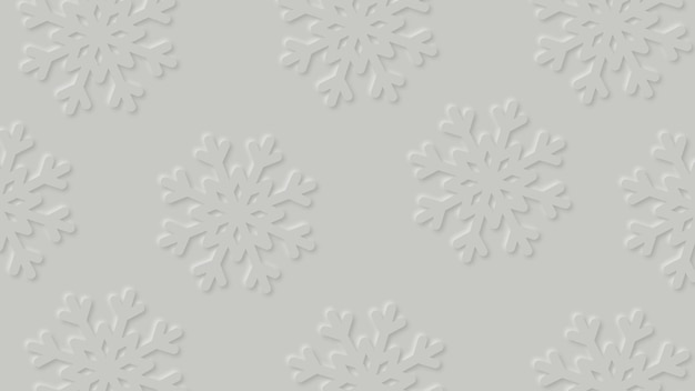 Modern winter background with paper cut snowfall