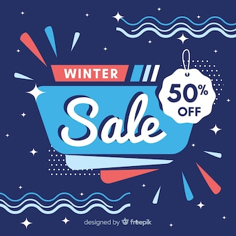Modern winter sale composition