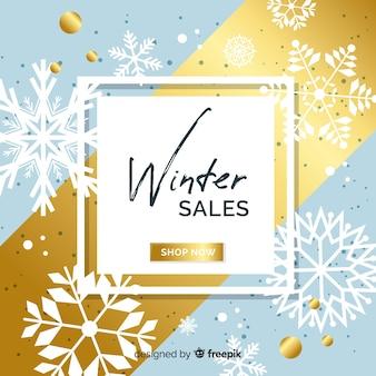 Composizione di vendita invernale moderna