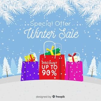 Современная композиция зимней продажи