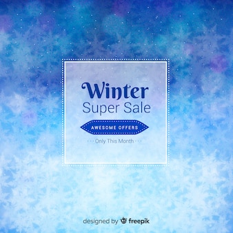 Modern winter sale composition