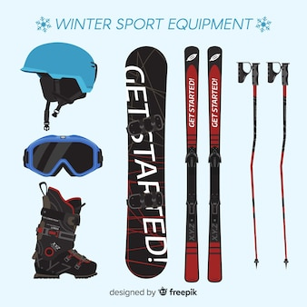 Modern winter sports equipment