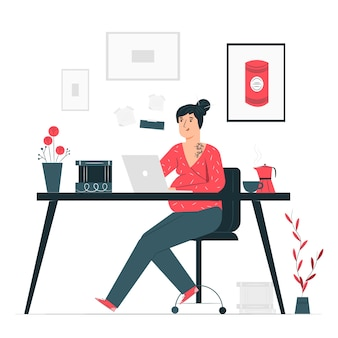 Modern woman concept illustration