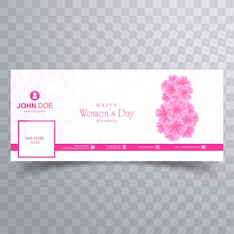 Modern women's day facebook cover banner design