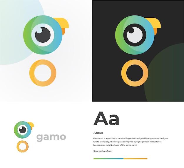 現代のワードマークgロゴデザインプレミアムベクトル