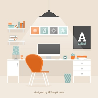 Современный фон рабочего пространства