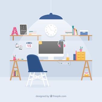 Modern workspace background