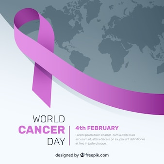 Modern world cancer day background