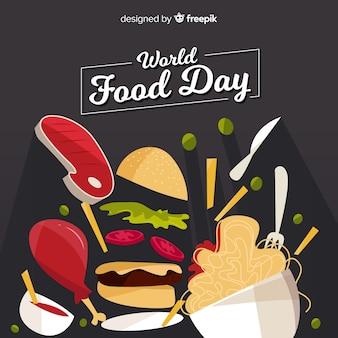Modern world food day background concept
