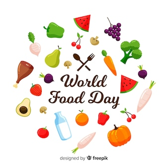 Modern world food day background