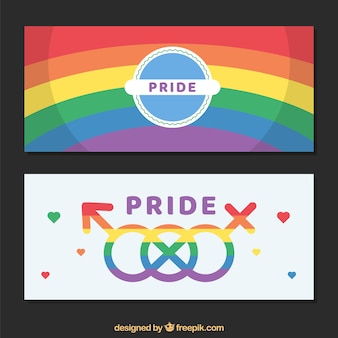 Modern world pride banners