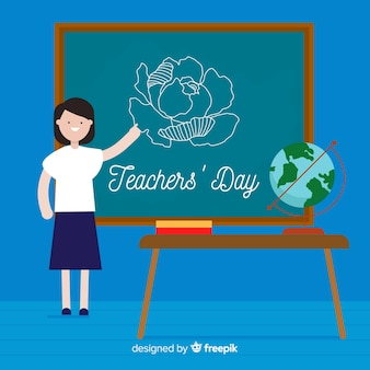 Modern world teachers day background
