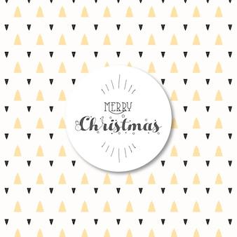 Modern yellow and dark grey christmas trees pattern