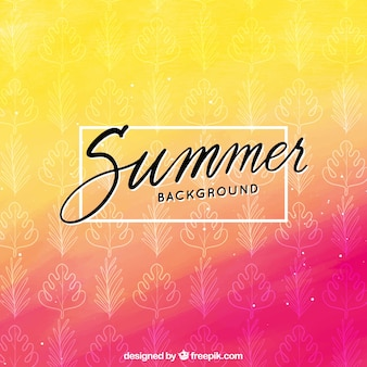 Modern yellow and pink summer background