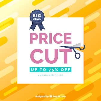 Modern yellow background for sales