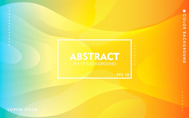 Modern yellow and blue gradient background