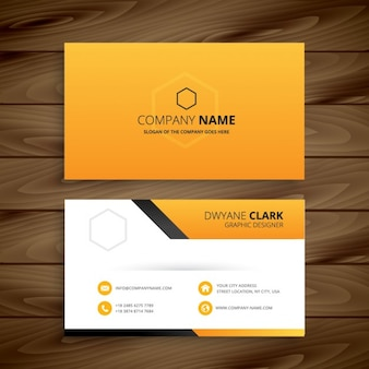 Modern yellow business card