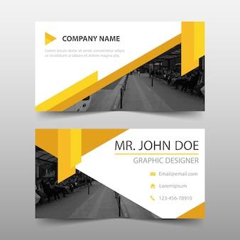 Modern yellow corporate business card