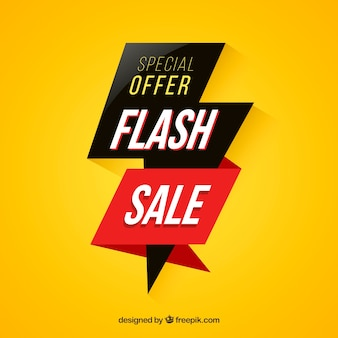 Modern yellow flash sale background