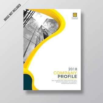 Modern yellow style design company profile template