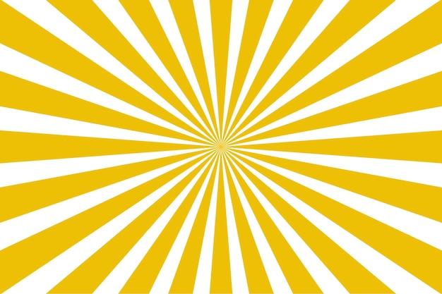 現代の黄色のサンバースト抽象的な背景の太陽光線ベクトル図