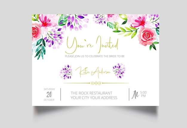 Modern you're invited card design
