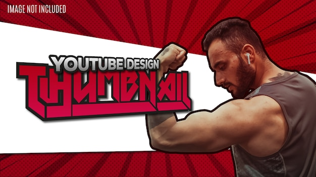 Modern youtube design thumbnail background template
