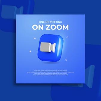 現代のズームソーシャルメディア3dアイコン