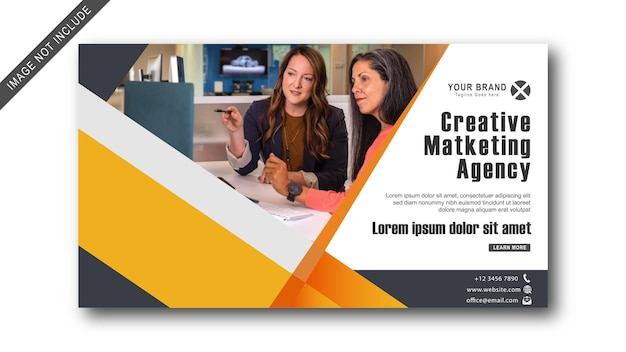 Modernd business promotion and corporate web banner template creative marketing agency brocur