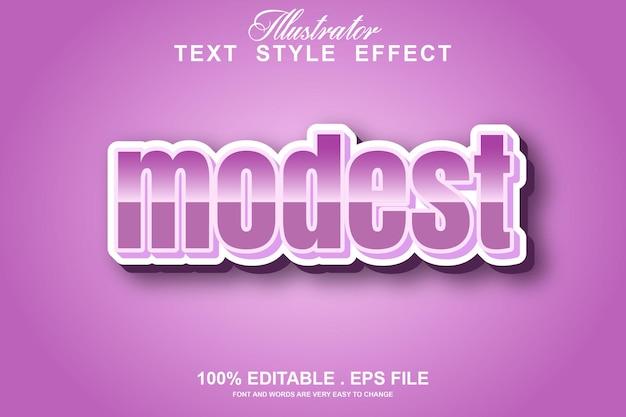 Скромный текстовый эффект редактируемый