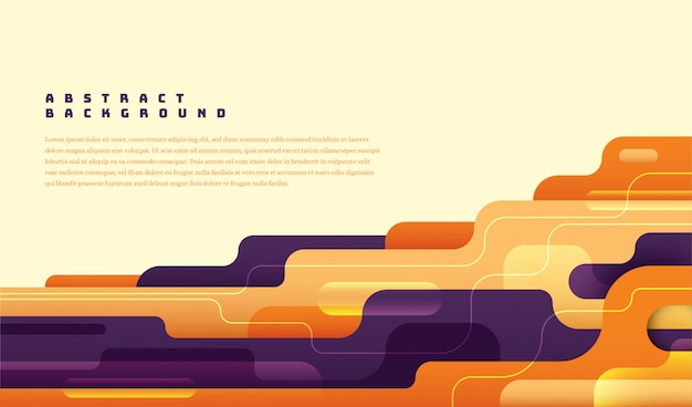 Modish abstract layout with colorful shapes.