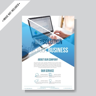 Modren business flyer background template