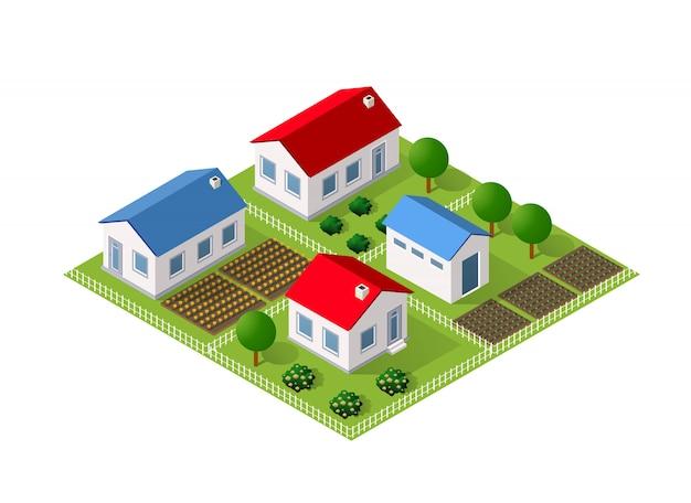 Модуль блока городской городской пейзаж