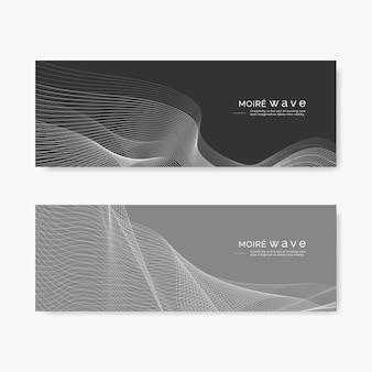 Moiré pattern background set