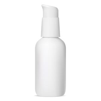 保湿化粧品ボトル。血清ポンプのパッケージ。ディスペンサー付きファンデーションクリーム