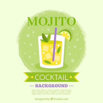 Mojito background with ice