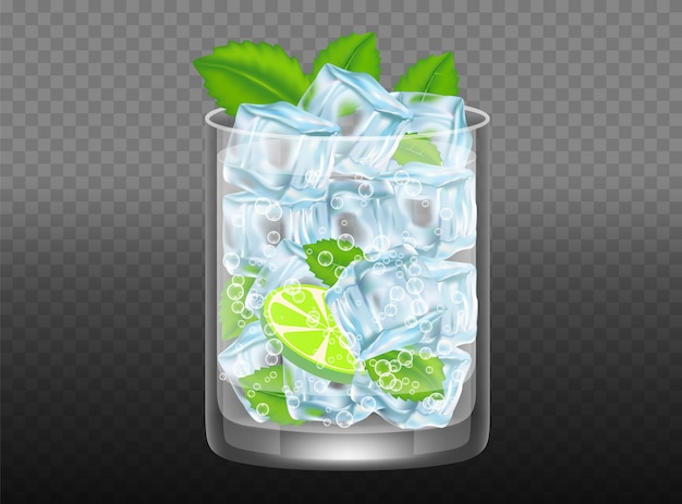 Mojito cocktail vector realistic illustration