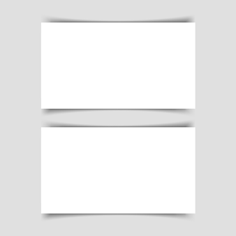 Mok-up of two horizontal business cards with shadow on a gray background. template for the presentation of business cards.  illustration.