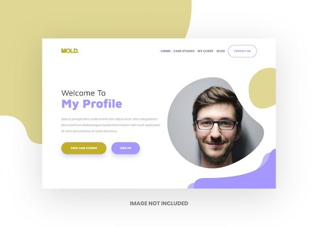 Mold - portfolio landing page template