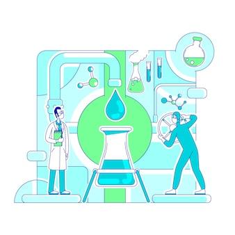 Molecular analysis thin line concept