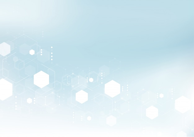 Molecular structure abstract tech background.
