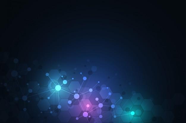 分子構造の背景とコミュニケーション。