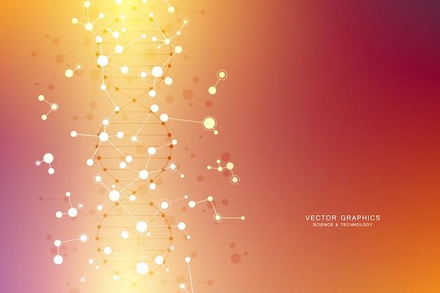 Molecular structure background.