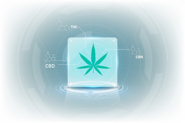 Molecular structure chemistry formula tetrahydrocannabinol medical cannabis