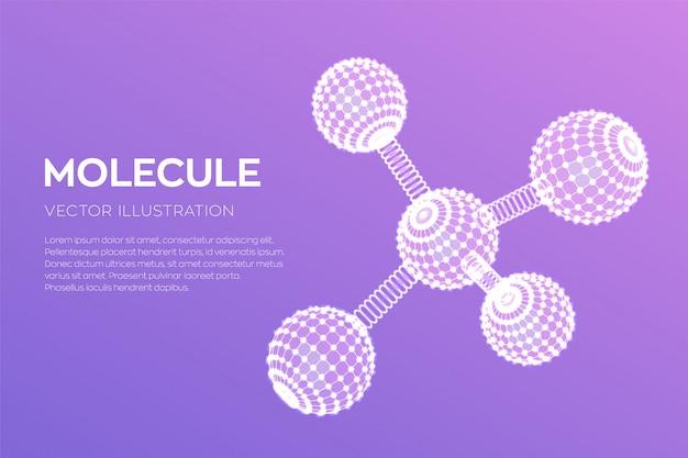 Молекулярная структура. днк, атом, нейроны. молекулы и химические формулы.