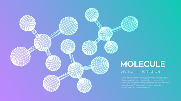 Molecular structure. dna, atom, neurons. molecules and chemical formulas.