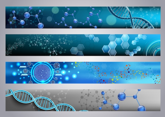 Molecular structure and dna background