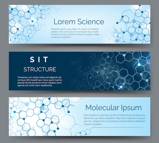 Molecular structure horizontal banners