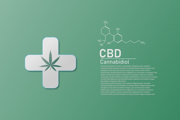 Molecular structure medical  chemistry formula cannabis of the formula cbd,vector illustration
